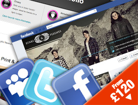 custom facebook fanpage design, myspace design, twitter design